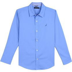 Nautica Little Boys Solid Button Down Long Sleeve Shirt