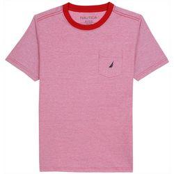 Nautica Little Boys Jon Striped Pocket T-Shirt