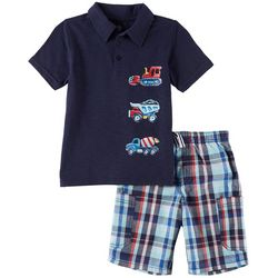 Kids Headquarters Little Boys 2-pc. Construction Polo Set