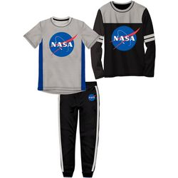 NASA Little Boys 3-pc. Athletic Pants Set