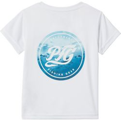 Columbia Toddler Boys Short Sleeve Solid PFG Logo T-Shirt