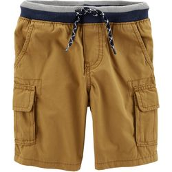Carters Toddler Boys Solid Knit Waist Pull-On Cargo Shorts