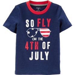 Carters Toddler Boys Fly On The 4th Of July T-Shirt