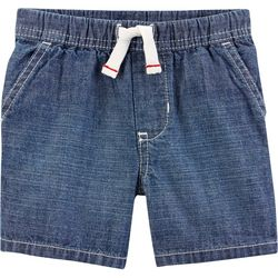 Carters Toddler Boys Solid Chambray Pull-On Shorts