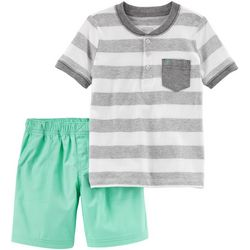 Carters Toddler Boys Stripe Pocket Shorts Set