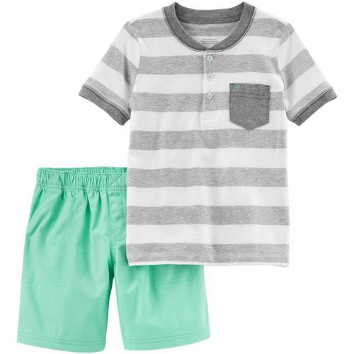 702d11b7b Carters Toddler Boys Stripe Pocket Shorts Set | Bealls Florida