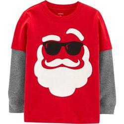 Carters Toddler Boys Holiday Santa T-Shirt