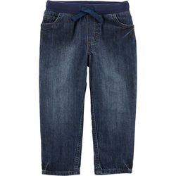 Carters Toddler Boys Solid Pull-On Denim Pants