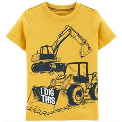 Carters Toddler Boys I Dig This Construction T-Shirt