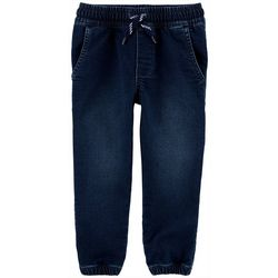 Carters Toddler Boys Solid Pull-On Elastic Waist Denim Pants