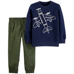 Carters Toddler Boys 2-pc. Plane Awesome Pants Set