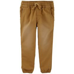 Carters Toddler Boys Solid Pull-On Elastic Waist Woven Pants