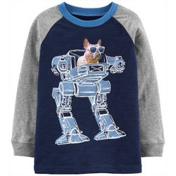 Carters Toddler Boys Robot Dog Long Sleeve T-Shirt