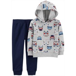 Carters Toddler Boys 2-pc. Rescue Vehicle Hoodie Set