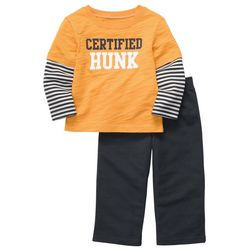 Carters Toddler Boys Certified Hunk Stripe Pants Set