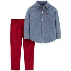Carters Toddler Boys 2-pc. Chambray Button Down Pants Set