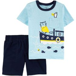 Carters Toddler Boys Boat Snow Yarn Tee &