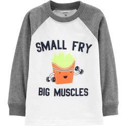 Carters Toddler Boys Small Fry Big Muscles Raglan T-Shirt