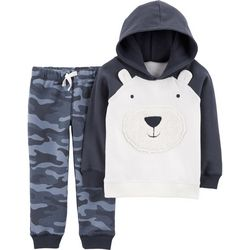 Carters Toddler Boys Polar Bear Hoodie Jogger Pants Set