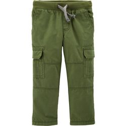Carters Toddler Boys Solid Reinforced Cargo Pants