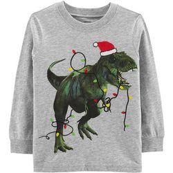 Carters Toddler Boys Christmas Dino Long Sleeve T-Shirt