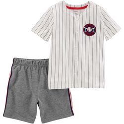 Carters Toddler Boys Little Slugger Shorts Set