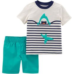 Carters Toddler Boys Shark Shorts Set
