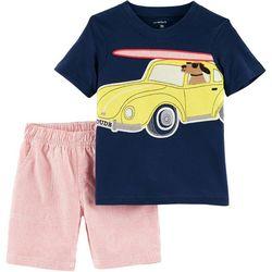 Carters Toddler Boys Surfer Dog Shorts Set
