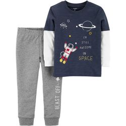 Carters Toddler Boys Still Awesome In Space Pants Set