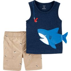 Carters Toddler Boys Shark Tank Top Shorts Set