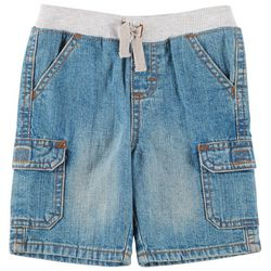 Wrangler Toddler Boys Solid Knit Waist Cargo Shorts