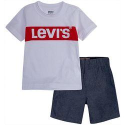 Levi's Toddler Boys 2-pc. Block Logo Shorts Set