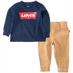 Levi's Toddler Boys 2-pc. Batwing Logo Pants Set
