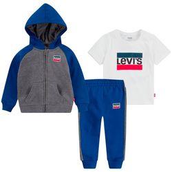 Levi's Toddler Boys 3-pc. Raglan Hoodie Set