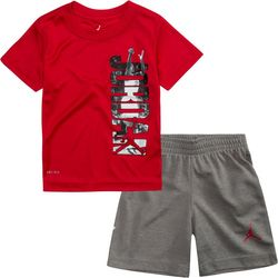 Jordan Toddler Boys 2-pc. Vertical Jordan Shorts Set