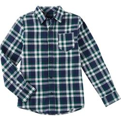 French Toast Toddler Boys Plaid Button Down Flannel Top