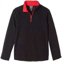 French Toast Toddler Boys Solid Quarter-Zip Fleece Jacket