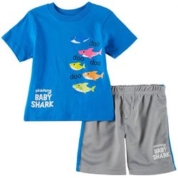 Pinkfong Toddler Boys Baby Shark Shorts Set