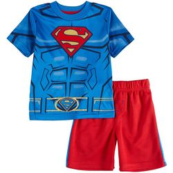 Superman Toddler Boys Performance Shorts Set