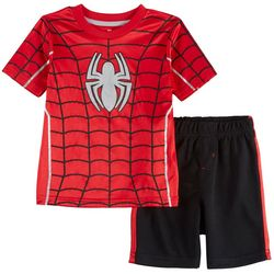 Marvel Spider-Man Toddler Boys Costume Shorts Set