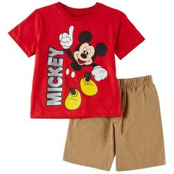 Disney Mickey Mouse Toddler Boys Mickey Shorts Set