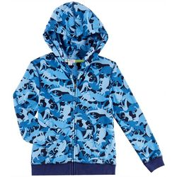 Flapdoodles Toddler Boys Dinosaur Hooded Sweatshirt