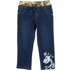 Flapdoodles Toddler Boys Rrrr Dino Denim Pants