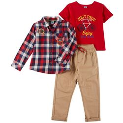 Little Lad Toddler Boys 3-pc. Enjoy The Ride Pants Set