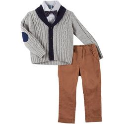Little Lad Toddler Boys 4-pc. Button-Down Cardigan Set