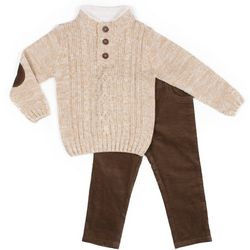 Little Lad Toddler Boys 2-pc. Pull-Over Sweater Set
