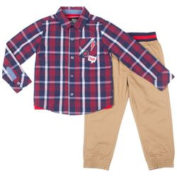 Boys Rock Toddler Boys 3-pc. Troublemaker Approved Pants Set