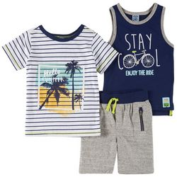 Little Lad Toddler Boys 3-pc. Stay Cool Shorts Set