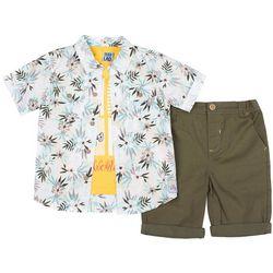 Boys Rock Toddler Boys 3-pc. Tropical Adventures Shorts