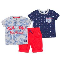Boys Rock Toddler Boys 3-pc. Sea Ya'll Bon Voyage Short Set